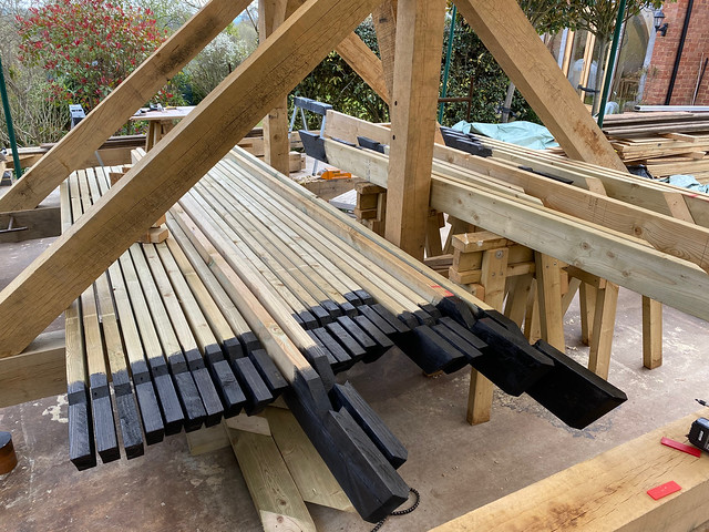 Painting softwood rafter ends