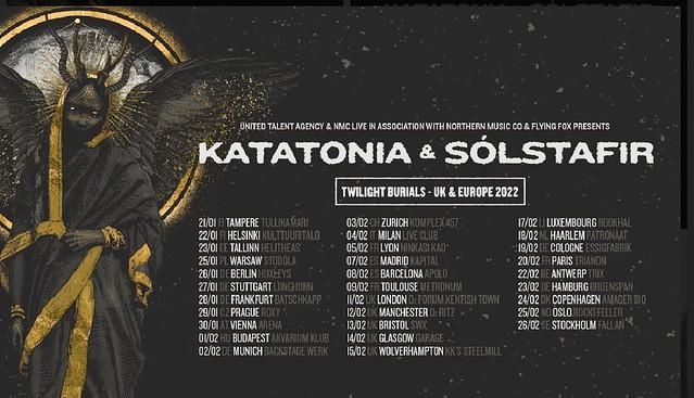 Katatonia Announce 'Twilight Burials' UK Tour