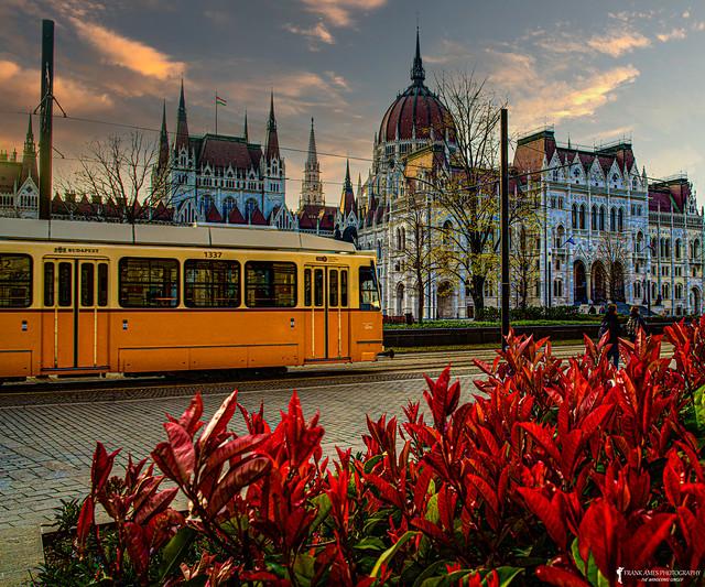 Parliament Trolley Sunset