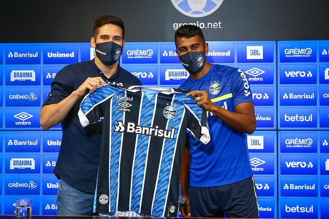 Apresentação Thiago Santos no Grêmio - 13/04/2021