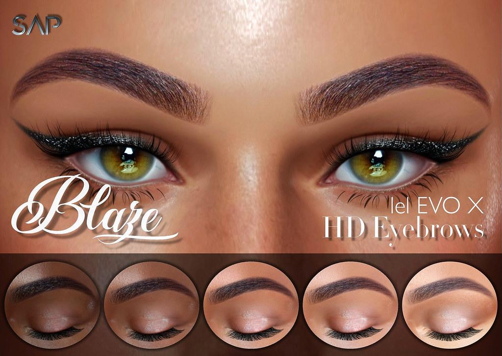 Blaze HD Eyebrows (Lelutka Evo / EvoX)
