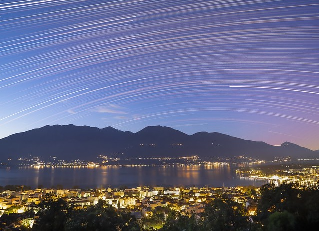 StarTrail over Locarno