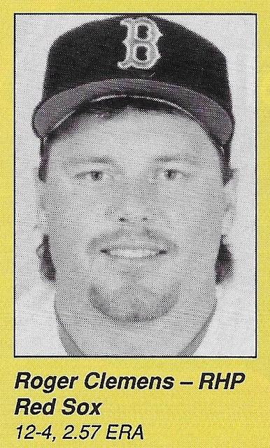 1990 All-Star Program Inserts - Clemens, Roger