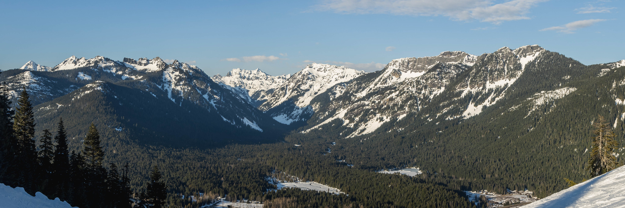 Gold Creek Valley panoramic view
