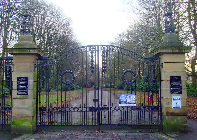 Suitably sombre gateway to Preston Cemetery
