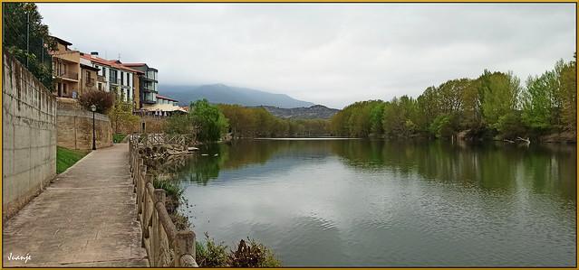 El Ebro a su paso por Briñas (La Rioja, España, 3-4-2021)