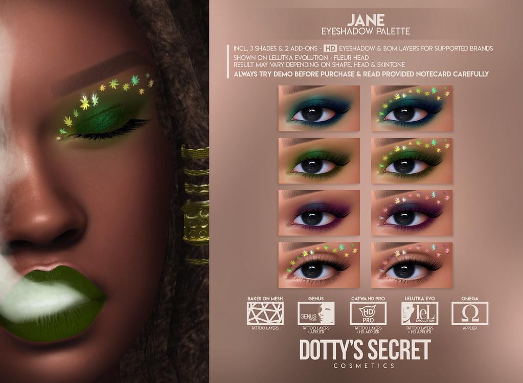 Dotty's Secret - Jane - Eyeshadow Palette