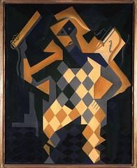 1918_Арлекин - скрипка. 91.7 х 73 см. Мадрид, Музей королевы Софии