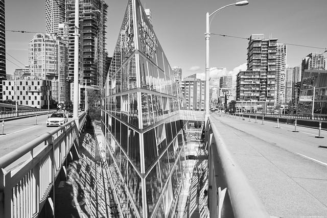 Mirrored Flatiron Building - Vancouver BC
