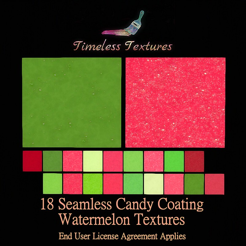 TT 18 Seamless Candy Coating Watermelon Timeless Textures