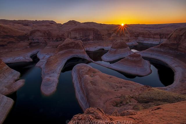 Sunstar at Reflection Canyon