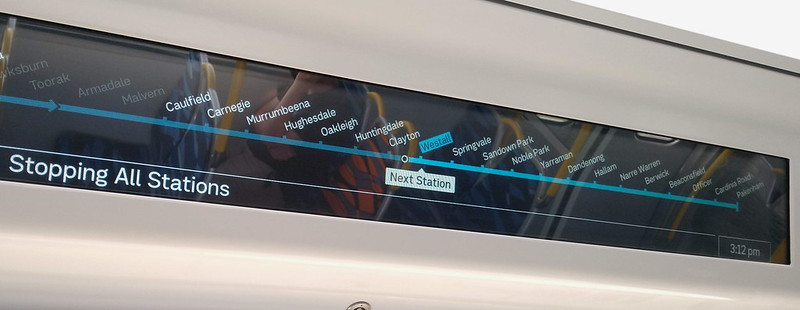 Evolution/HCMT train automated signage