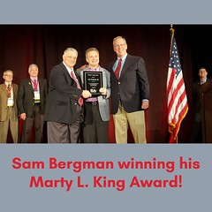 Sam Bergman winning his Marty L. King Award!
