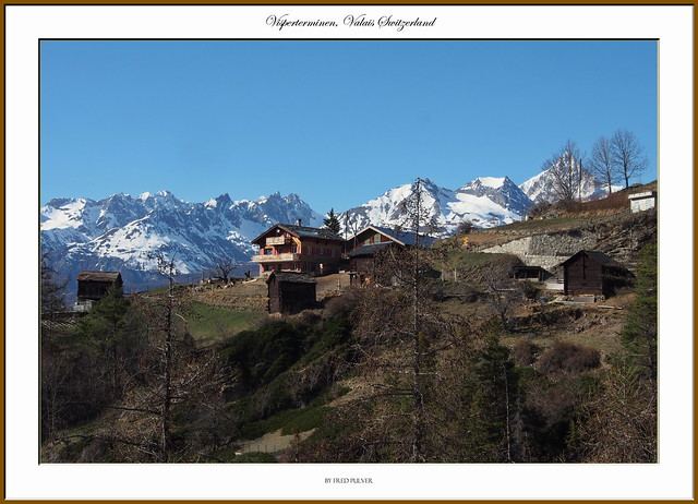 Chalet and Mountains