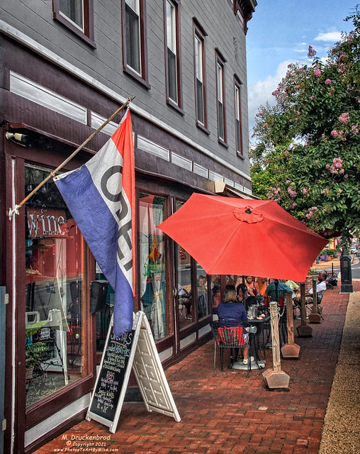 Outdoor Dining, Looking East on 6th Street, Downtown Front Royal VA