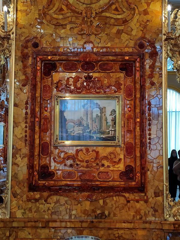 Большой Екатерининский дворец - Картина в Янтарной комнате