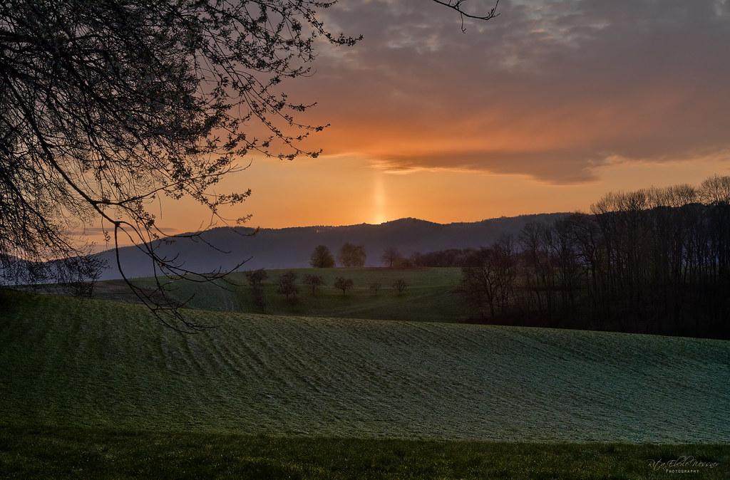 Sunrise with Upper Light Pillar