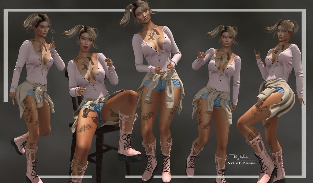 RM ~ Art Of Poses ~ GIRL PACK II plus Bonus