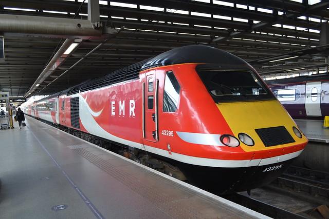 East Midlands Railway HST 43102 The Journey Shrinker & 43295
