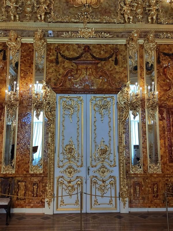 Большой Екатерининский дворец - Дверь в Янтарной комнате