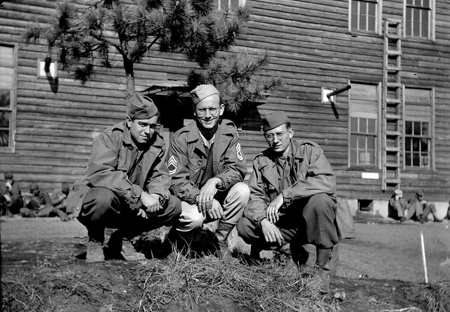Personal Photo: Three Army servicemen posing together, ca. 1945. (3)