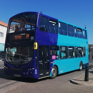 Arriva North East 7406 (NK64 FSO  seen at Whitby whilst working on Whitby Park and ride p1