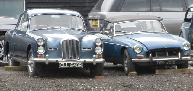 1964 Alvis TE21 and 1969 MGB