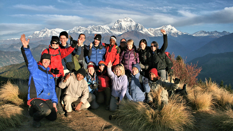 The Team on Poon Hill