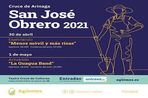 Cartel de las fiestas en honor a San José Obrero