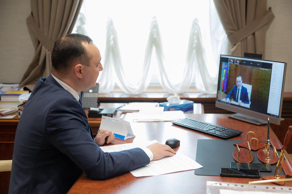 """14.04.2021 Participarea Vicepreședintelui Parlamentului Vlad Batrîncea, președintele Grupului de prietenie cu Parlamentul Chinei, la Conferința internațională """"Noul concept de dezvoltare a Chinei, practica socialismului cu specific chinez"""""""