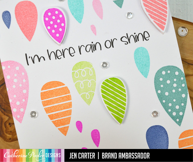 Jen Carter April Showers Bring Pitter Patterns Rain Shine Closeup