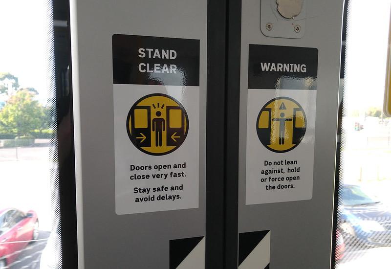 Evolution/HCMT train door signage