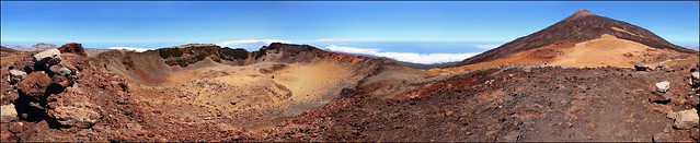 360º  on the top of Pico Viejo, 3135m, Tenerife, Canary islands, Spain.