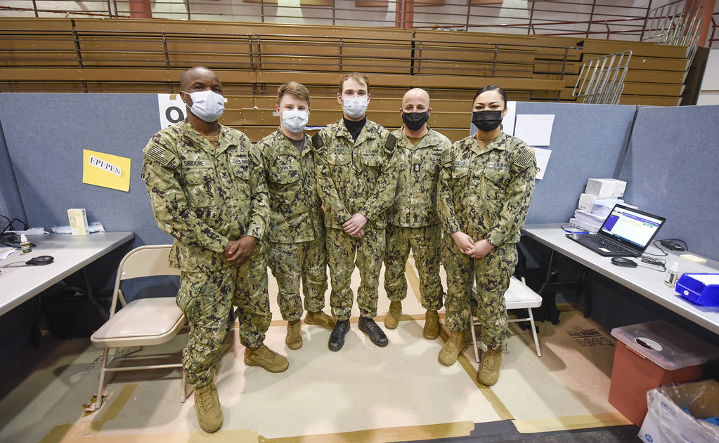 MCPON Visits Sailors Supporting Community Vaccination Center   210324-N-YG104-0024