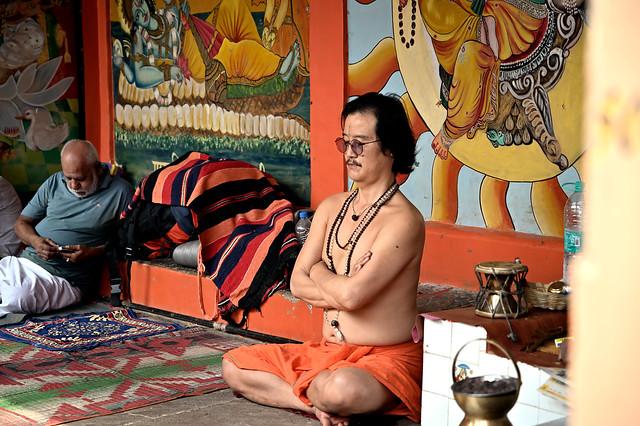 Chinese Sadhu doing meditation