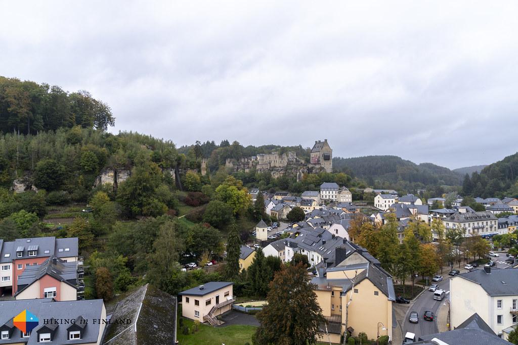 Larochette Castle from the trail