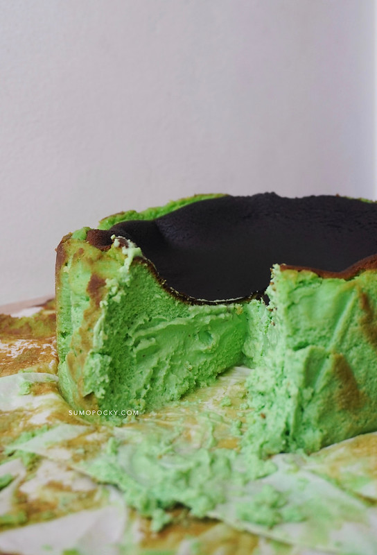 Pandan Basque Burnt Cheesecake Recipe