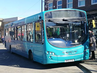 Arriva North East VDL SB200/Wright Pulsar 1440 NK10CFA Redcar based is seen working on a x93 to Scarborough via Robin Hood Bay