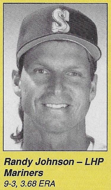 1990 All-Star Program Inserts - Johnson, Randy