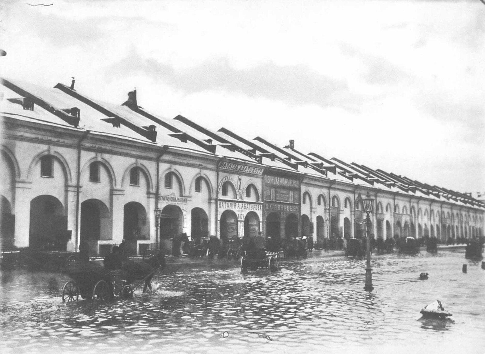 1903. Наводнение. Садовая улица, Никольский рынок. 12 октября