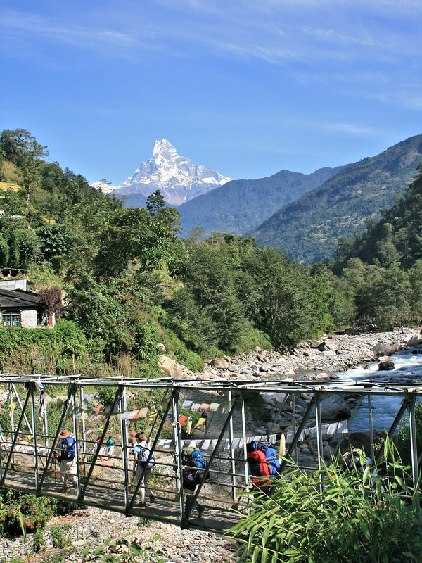 Day 1: Machhapuchhre in the distance