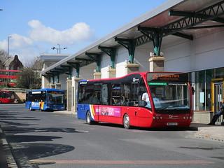 Go North East 5297 & 8297. Gateshead Interchange