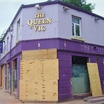The end of the old Queen Vic pub in Preston