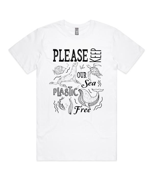 Keep Our Sea Plastic Free Eco Save Seal Whale Sea Turtle T-Shirt
