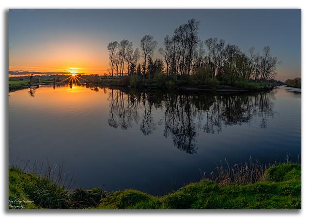 McKinney's old railway bridge sunset tonight at Strabane.
