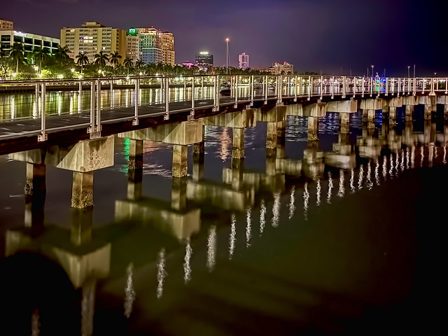 South Cove Natural Area Boardwalk, West Palm Beach, Florida, USA