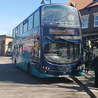 Arriva North East 7404/NK64 FSL seen at Whitby whilst working on x93 to Scaborough via robin Hood