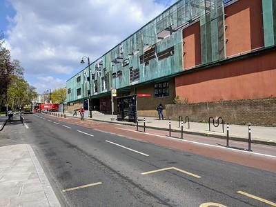 Bus stop outside Haverstock School