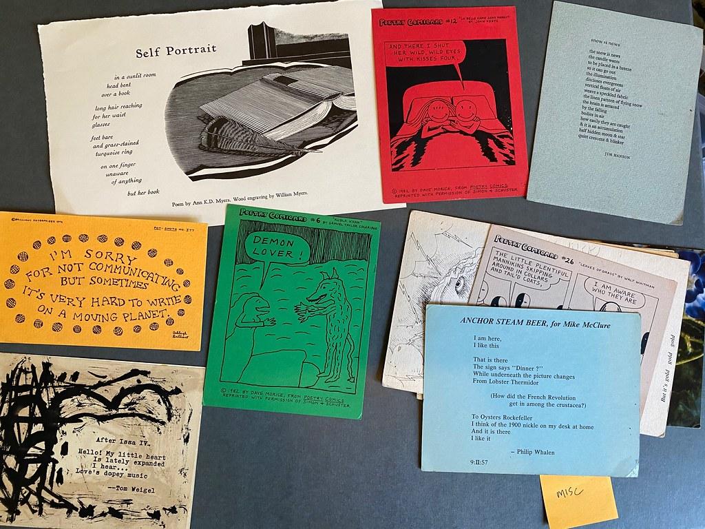 Various poetry cards/broadsides