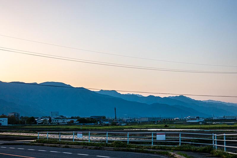 松本市の夕方